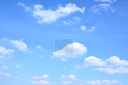 Photo for Blue sky and lots small clouds, may be used as background - Royalty Free Image