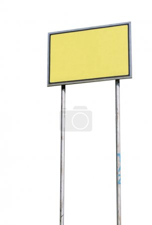 Photo pour Petit panneau blanc isolé sur fond blanc - image libre de droit