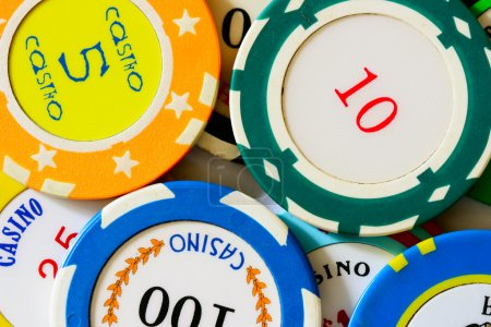 Casino chips close-up