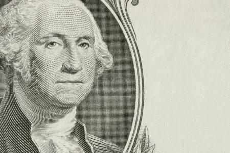 Photo pour Portrait du président Washington avec espace supplémentaire pour votre texte à droite - image libre de droit
