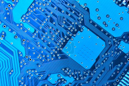 Photo for Blue circuit board macro, may be used as background - Royalty Free Image