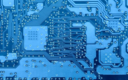 Photo for Blue circuit board super close-up, may be used as background - Royalty Free Image