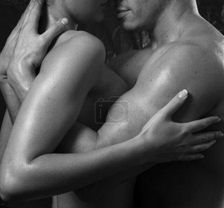 Sexy interracial couple