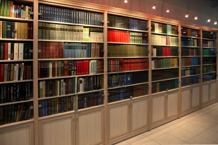 Bookcase with old book...