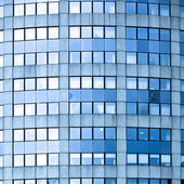 Abstract square crop of blue business of
