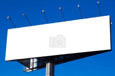 Blank big billboard over blue sky