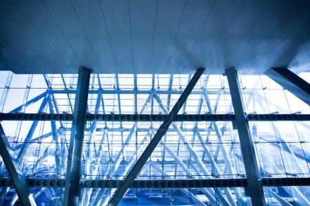 Photo pour Futuriste construction de fenêtres centre d'affaires close-up - image libre de droit