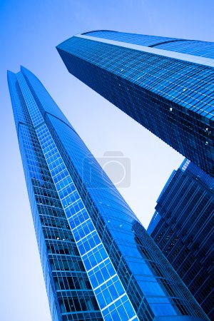 Two modern skyscrapers towers