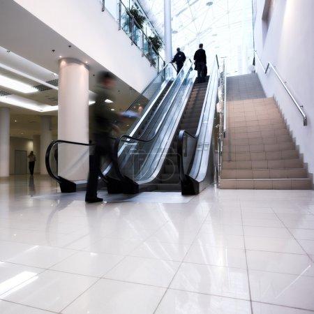 Crowd on escalator