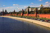 Kremlin wall and blue Moskva river