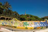 Antoni Gaudi hause and ceramic bench