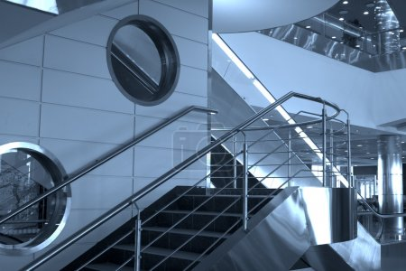 Stairs and windows in airport