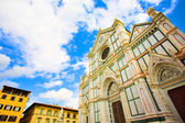 Wide Santa Croce basilica in Florence