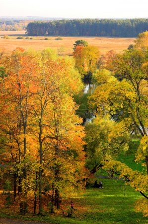 Autumn landscape in Moscow, Russia