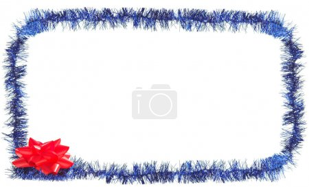 Festive frame with glare and red flower