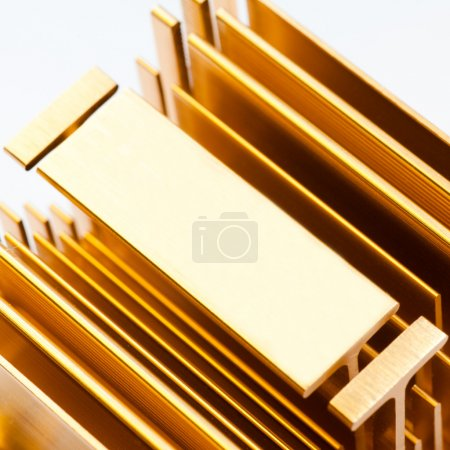Photo for Gold radiator close-up - Royalty Free Image