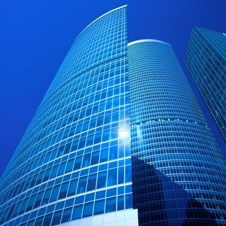 Photo for New skyscrapers business centre in moscow city, russia - Royalty Free Image
