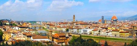 Photo pour Panorama à Florence, six parties, Toscane, Italie - image libre de droit