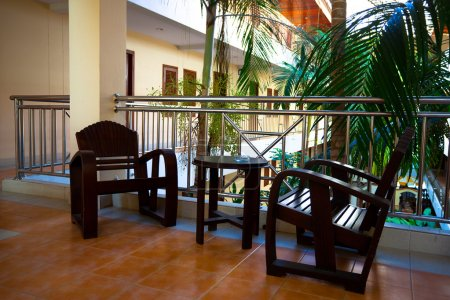 Armchairs in hotel