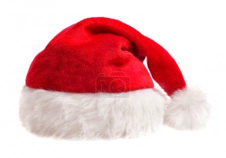Photo pour Santa chapeau isolé sur blanc - image libre de droit