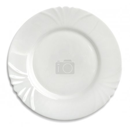 Photo for White dinner plate - Royalty Free Image