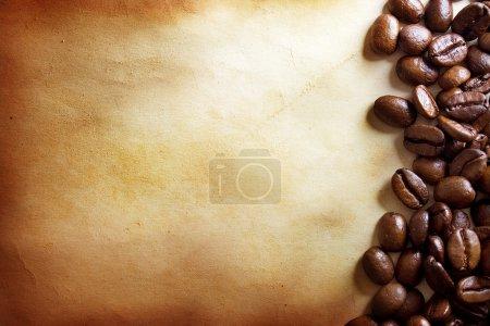 Photo pour Fond grunge café - image libre de droit