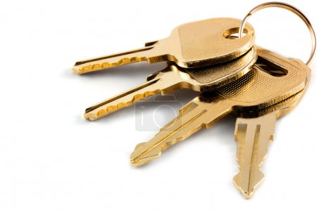 Photo for A bunch of keys isolated against a clean white background - Royalty Free Image