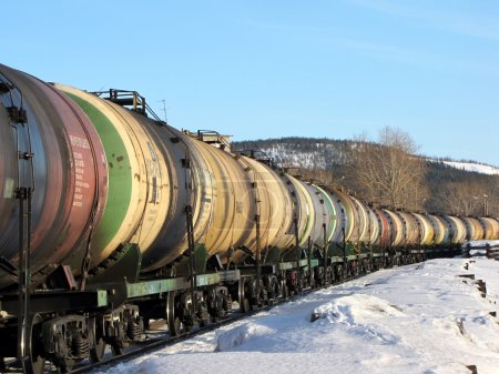 The transportation of oil by rail