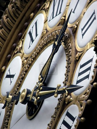 Photo for Close up of train station clock from Orsay museum. - Royalty Free Image