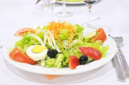Photo for Close-up of plate with salad appetizer meal - Royalty Free Image