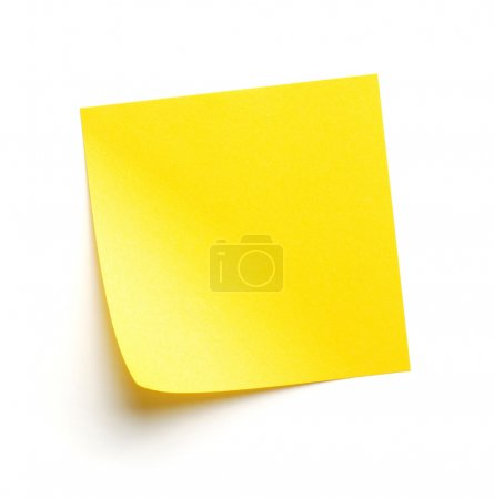 Photo for Yellow blank post-it note - Royalty Free Image