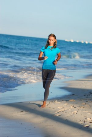 Jogging at beach
