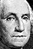Vector Washington trace from $1 bill
