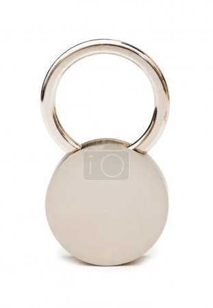 Silver padlock isolated on the white