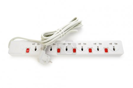 Extension cord isolated on the white