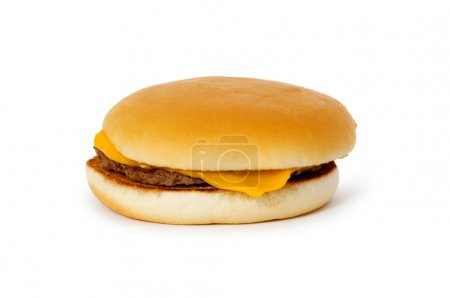 Cheeseburger isolated on the white
