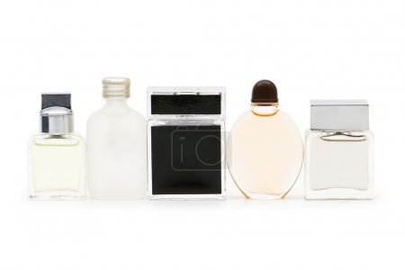 Perfume bottle isolated on the white