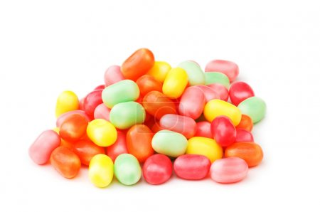Various jelly beans isolated