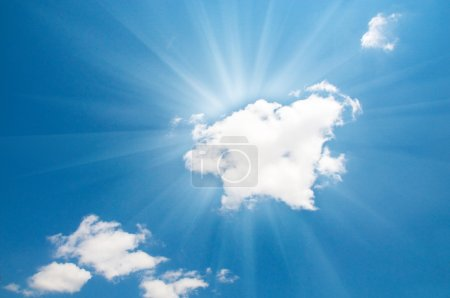 Photo for Bright blue sky and sun - Royalty Free Image