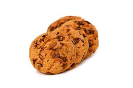 Photo for Chocolate cookies - Focus on the middle cookie - Royalty Free Image