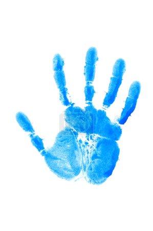 Photo pour Impression de la main isolée sur le blanc - image libre de droit