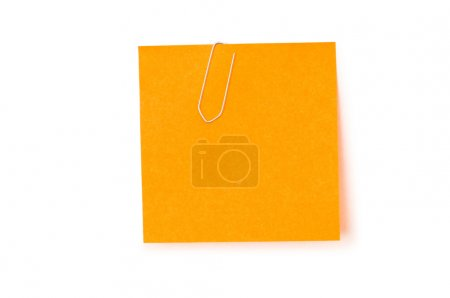 Photo for Reminder notes with paperclips isolated on the white - Royalty Free Image