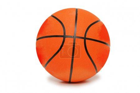 Photo pour Basket orange isolé sur fond blanc - image libre de droit