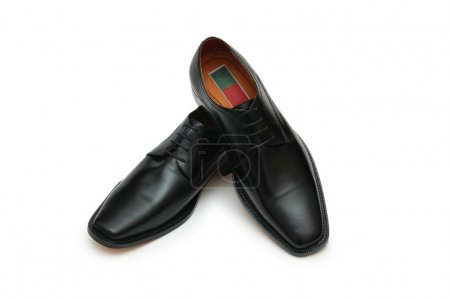 Male black shoes isolated