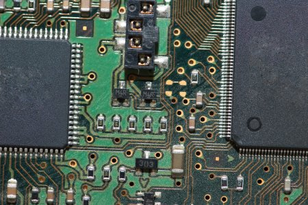 Photo for Close-up of computer mainboard - Electronics concept - Royalty Free Image