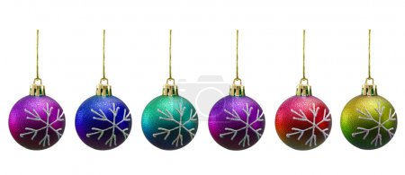 Christmas balls of various colours