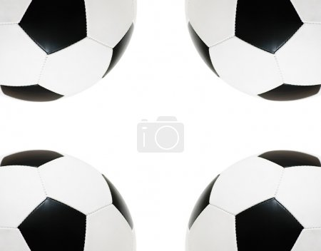 Frame with the black and white football