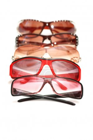 Various sunglasses isolated