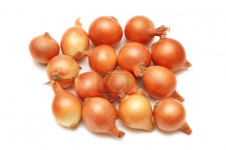 Lots of onions isolated on white