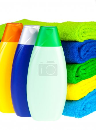 Shampoo and colour terry towels